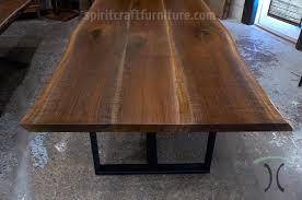 desk tops furniture. Live Edge Walnut Dining Table With Black Steel Tri Legs Desk Tops Furniture
