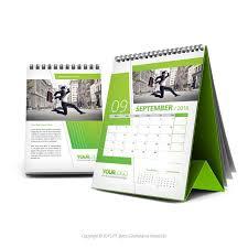 green desk calendar 2016