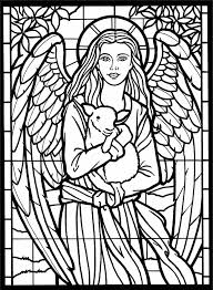 Small Picture Stained glass coloring pages angel and sheep ColoringStar