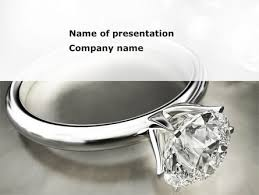 Diamond Ring Powerpoint Template Backgrounds 09135