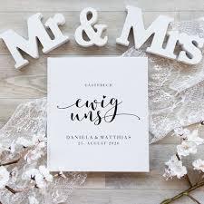 Gästebuch Hochzeit Personalisiert Ewig Uns Kaufen