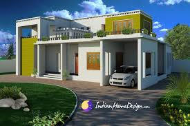 House Exterior Designer Impressive Modern Contemporary Flat Roof Indian Home Design By Shahid
