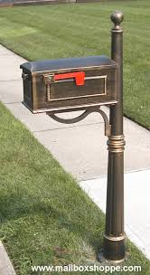 Aluminum mailbox post Cast Iron 600 Post With Traditional Mailbox Language Blag Special Lite Spk 600 Mailbox Post