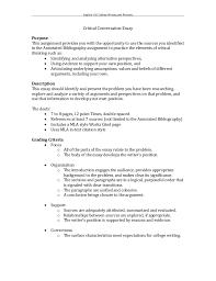 Eng 102 Critical Conversation Assignment Sheet