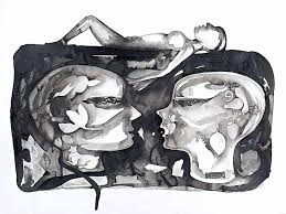 Untitled 10 by artist Milan Desai   ink-charcoal Drawings on paper