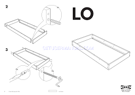 IKEA Beds LO BED FRAME TWIN Assembly Instruction free
