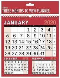 Details About 2020 Calendar Wall Calendars 3 Month To View Planner