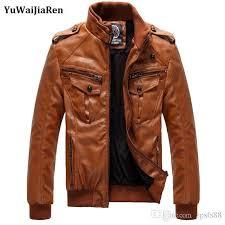 yuwaijiaren motorcycle leather jackets men leather clothing men leather jackets male business casual coats brand new clothing men s spring jacket mens