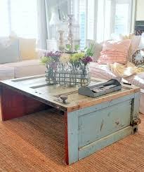 wooden door coffee table
