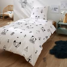 forest camp printed cotton duvet cover