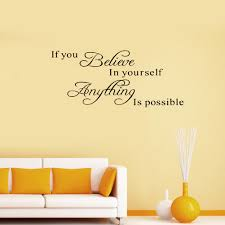Small Picture Brand New Believe Yourself Motivating Quote Maxim Decoration