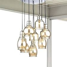 glass pendant chandelier 8 light cognac glass cer pendant chandelier with chrome finish and round base glass pendant