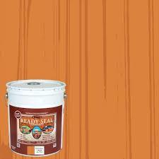 Pre Tinted Natural Cedar Semi Transparent Exterior Stain And Sealer Actual Net Contents 640 Fl Oz
