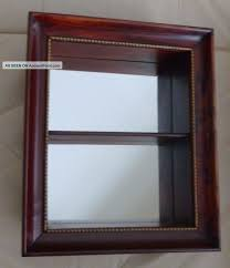 antique shadow box wall shelf wood