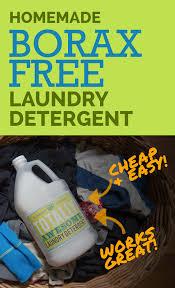 homemade borax free laundry detergent