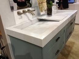 steel bathroom vanity. Bathroom. Rectangle White Undermount Double Trough Sink And Steel Faucet Above Grey Wooden Vanity On Bathroom