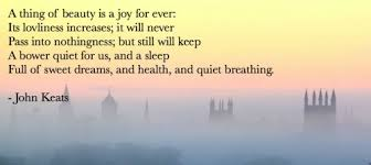 John Keats Quotes A Thing Of Beauty Best of Poet Seers John Keats