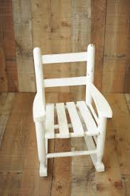small child chair. Antique White Rocker- Sitter And Small Child Chair D