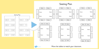 Interactive Seating Chart Classroom Free Editable Table Seating Plan Powerpoint Table