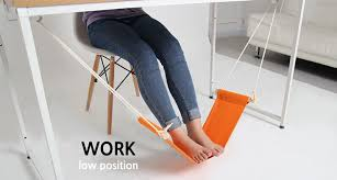 fuut foot rest hammock mini stand hanging swing under desk office footrest the foot hammock orange fuut desk feet hammock in hammocks from furniture on