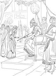 Esther En Koning Xerxes Kleurplaat Bijbelse Werkjes Esther