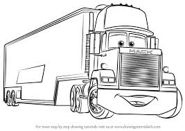 learn how to draw mack from cars 3