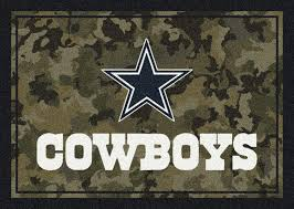 football team s logo paired with a camo design printed on durable nylon and licensed by the nfl makes the perfect gift for a fan these rugs are custom