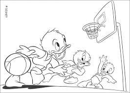 Disney Qui Quo Qua Che Giocano A Basket Disegni Da Colorare