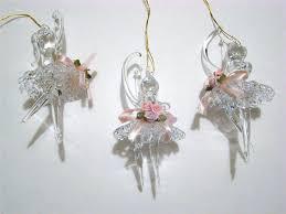 spun glass ornaments set of 3 spun glass ballerina spun glass ornaments