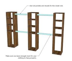 pretty how to build closet shelves clothes rods closet with a double hanging rod w8458955 staggering