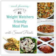 weight watcher friendly meal plan 5 with old smart points