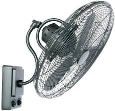 outdoor oscillating misting fan wall mount
