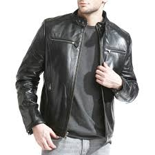 cafe racer basic black biker jacket men s cafe racer jackets