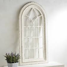 strikingly beautiful arched wall decor white rustic arch pier 1 imports zoom in window metal iron