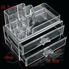 acrylic makeup organizer drawers uk storage conner w 5 large