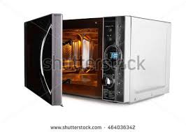open microwave clipart. open microwave oven isolated on a white background clipart