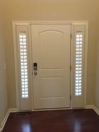 wooden door design. Perfect Lowes Blinds Design For Simple Window In Spain Apartment: White Wooden Door Ideas