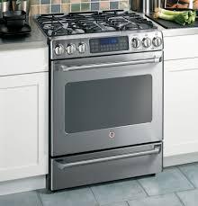 ge café™ series standing dual fuel range baking drawer product image