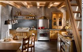 Small Country Kitchen Designs Cool Black White Island Beige Stone