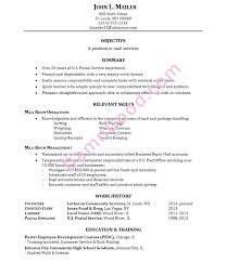 Sample Employment Resume Resume Sample Mail Services