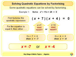 solving quadratic equations by factorising ks4 by magictrickster teaching resources tes