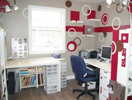 wallpops dots blox concentric circles and stripes make this office pop awesome craft room