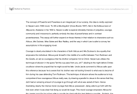 to kill a mockingbird essay powerful and powerless gcse english  document image preview
