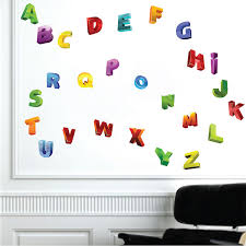 3d alphabet wall decals nursery wall