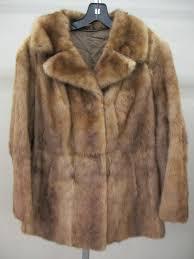 vintage womens light brown natural fur coat