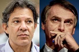 Resultado de imagem para Bolsonaro em versão paz e amor e Haddad contra o velho PT na segunda volta