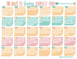 Printable Calendar 30 Days To Loving Yourself Paige Schmidt Llc