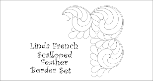 Linda French Scallop Feather Border Set [LF0047] - $20.00 : Quilty ... & Linda French Scallop Feather Border Set Adamdwight.com