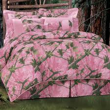 Nice Pink Camo Bed Set   King