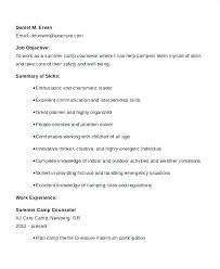 Camp Counselor Resume Sample Best of Summer Camp Counselor Resume Camp Counselor Job Description Fa 224 24 R